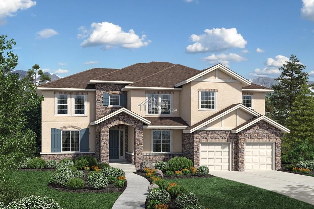 农村自建房土豪级别房屋设计图15米x16米两层钢结构