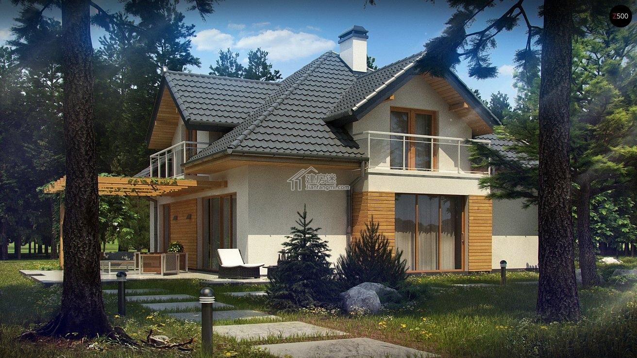建房迷2016年欧式风格别墅14米x12米两层砖混结构