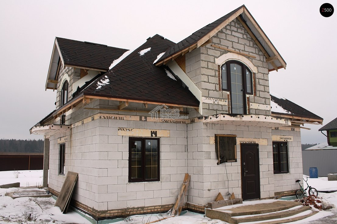 10米x12米农村砖混两层自建房平面设计图北方经济型别墅首选