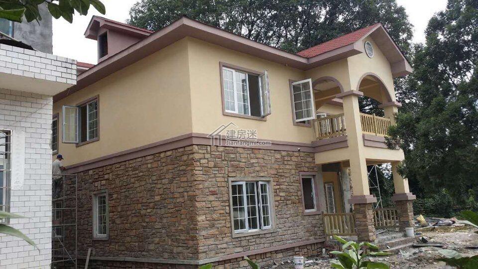 贵州农村自建310平米两层轻钢结构别墅直播贴-建房迷