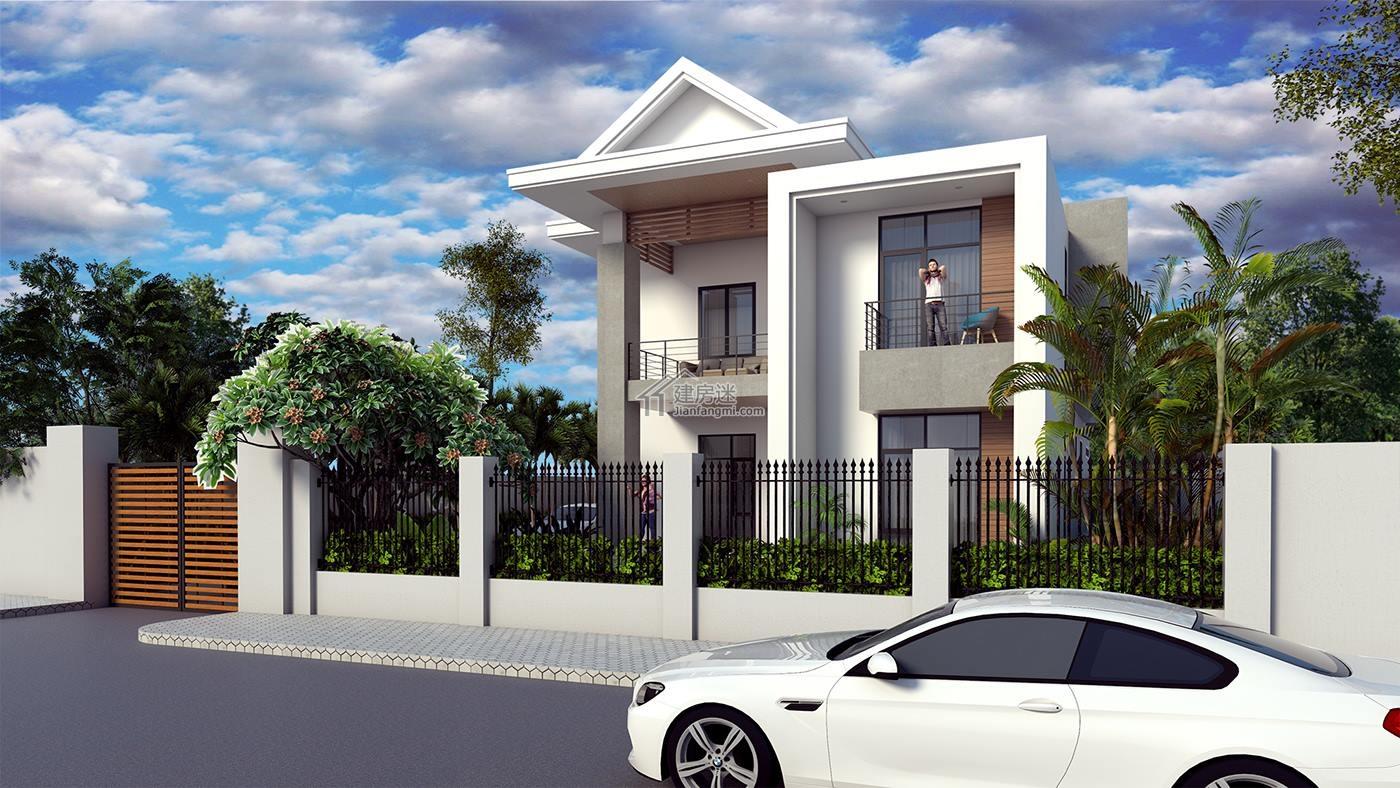建房迷农村两层现代风格别墅设计图11米x18米砖混结构图片