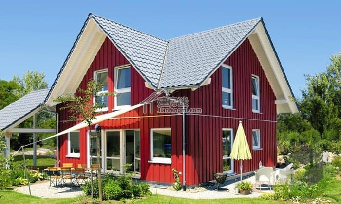 农村自建房度假别墅9.5米x10米一层两居室小户型别墅设计图
