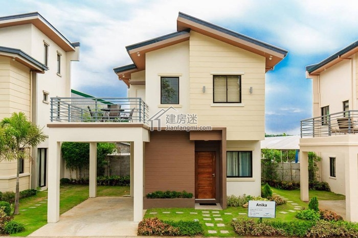 10米x10米两层经济型小户型别墅设计图养老度假别墅设计参考