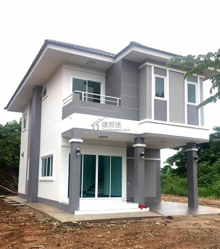 7米x13米农村自建房设计图80平米二层狭长地基建房参考