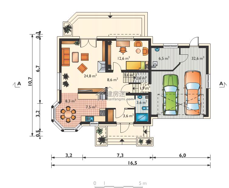 今天建房迷给大家分享这套农村自建房设计图16米X11米两层欧式风格经济型别墅图纸,大家如果是对建房迷以及轻钢自建有兴趣的,可以关注建房迷微信公众号 jianfangmi 类似的欧式风格我们以前也分享过不少,大家可以查看之前的帖子。 自建房欧式风格二层设计图8米X8米小户型经济型别墅设计