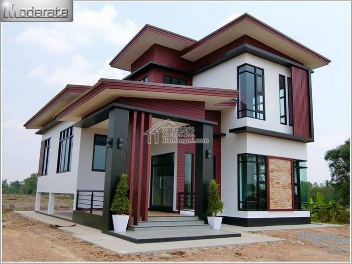 农村自建房小户型10米x12米一层半经济型别墅设计图东南亚风格