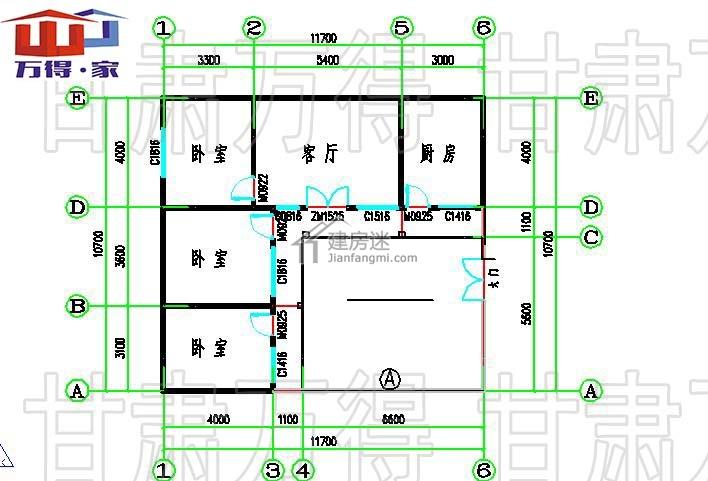 轻钢别墅轻钢结构主体,装饰装修,地面屋面,电气电路灯具由甘肃万得