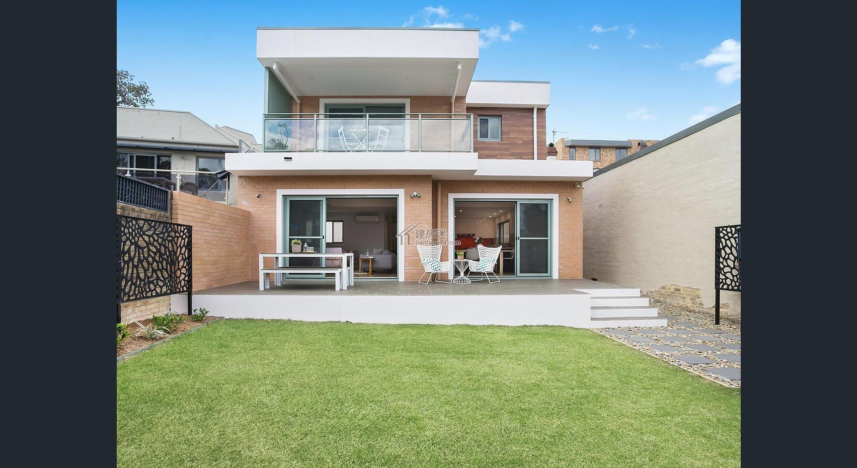 农村自建房狭长地基9米x15米两层现代风格别墅有什么可以免费领红包图