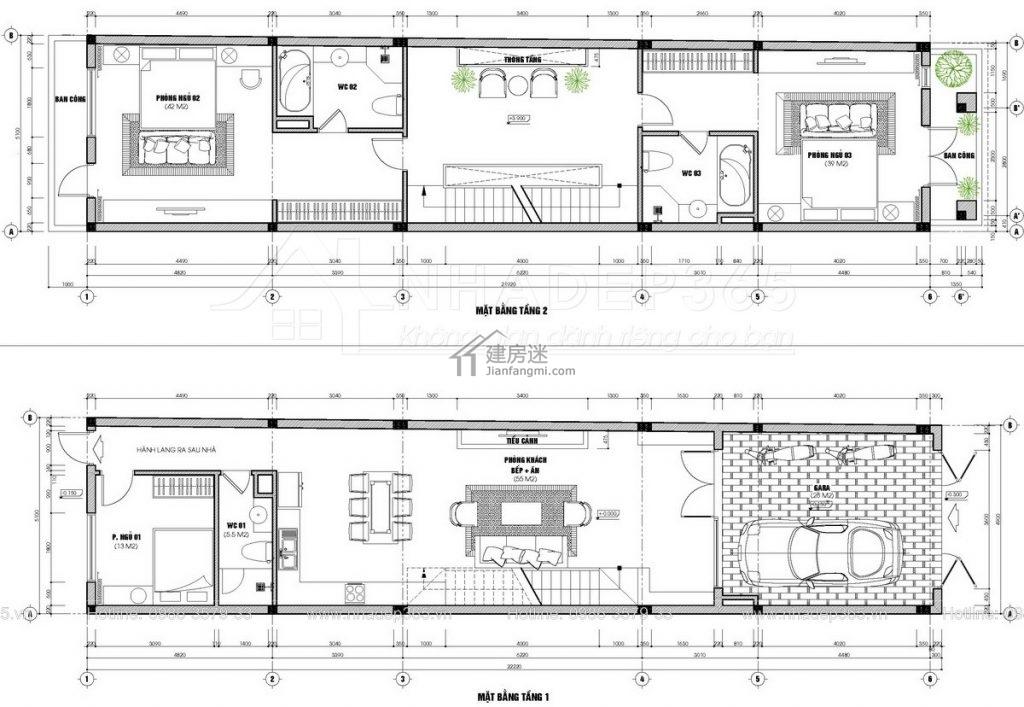 摘要: 今天建房迷(微信公众号 jianfangmi )分享给大家这套5米X12米沿街狭长地基两面不能采光五层自建房设计,特色就是正面的造型还不错,内部的布局也很棒,虽然进深很长,但是设置中央天井,保证室内有非常好的采光。 ...